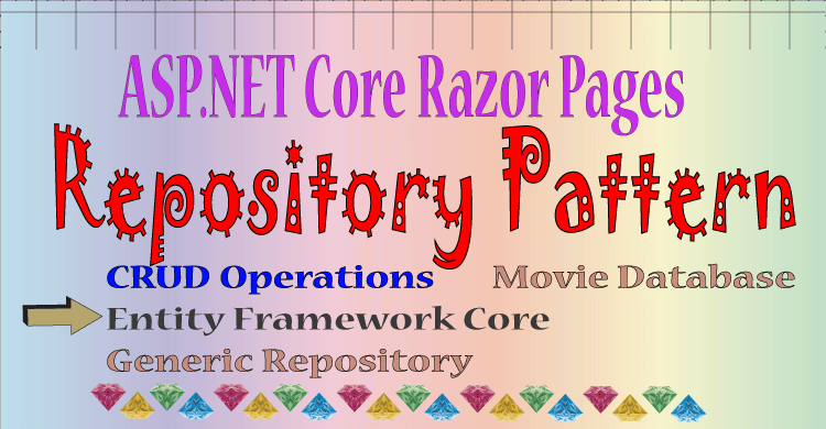 ASP.NET Core Razor Pages : CRUD Operations with Repository Pattern and Entity Framework Core