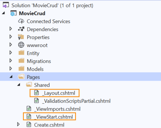 layout and view imports