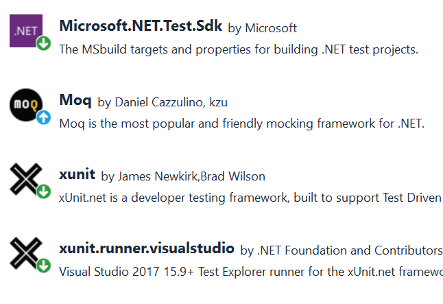 xUnit Mock Packages